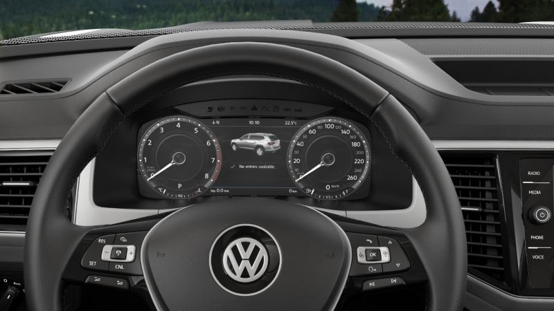 Le tableau de bord d'une Volkswagen
