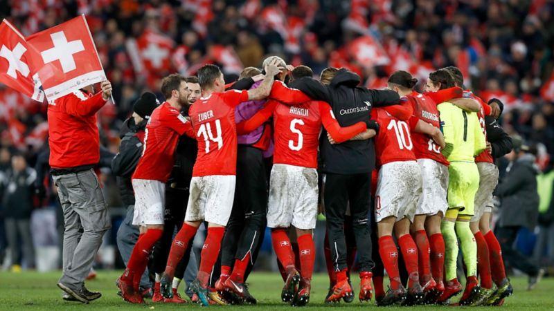 Die Schweizer Fussball Nationalmannschaft