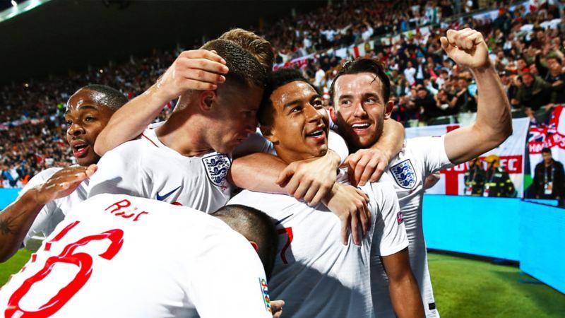 Nations League Semi Finals England Jubel