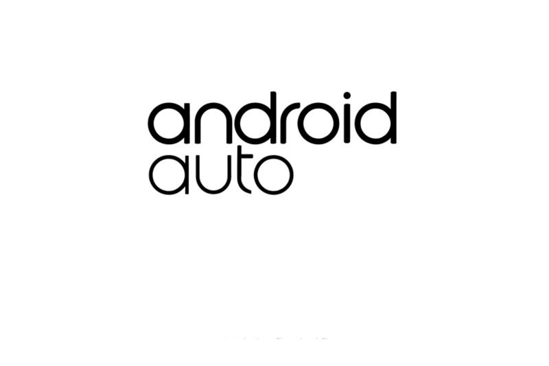 Android Auto logo on a white background