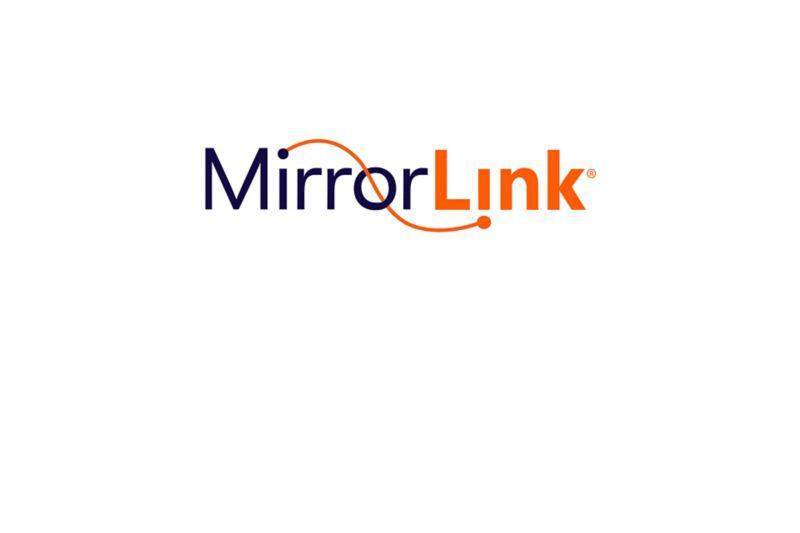 MirrorLink logo on a white background