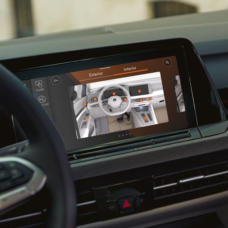 The in car digital manual in use